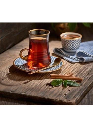 Koleksiyon Dervish Kulplu Çay Setı 6'lı Ikat Antrasıt-Koleksiyon